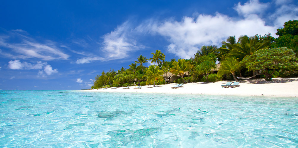 Secluded and private beachfront location