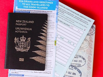 A passport and passenger arrival card are required to clear customs