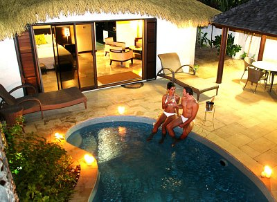 Private pool villa at Crown Beach Resort