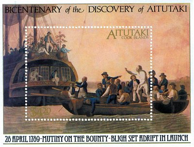 Mutiny on the Bounty off the shores of Aitutaki
